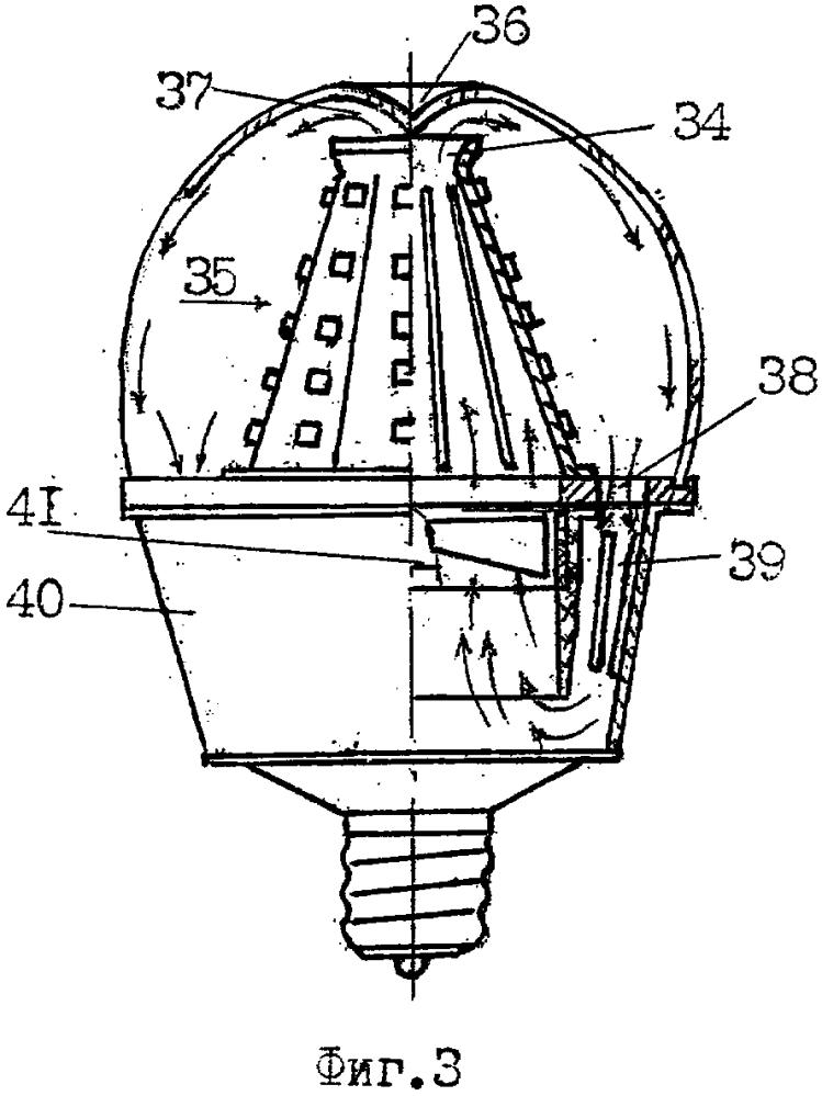 Светодиодная лампа с системой принудительного охлаждения