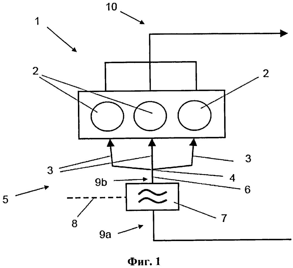 Способ подогрева впускного воздуха в двигателе внутреннего сгорания и двигатель внутреннего сгорания для осуществления способа