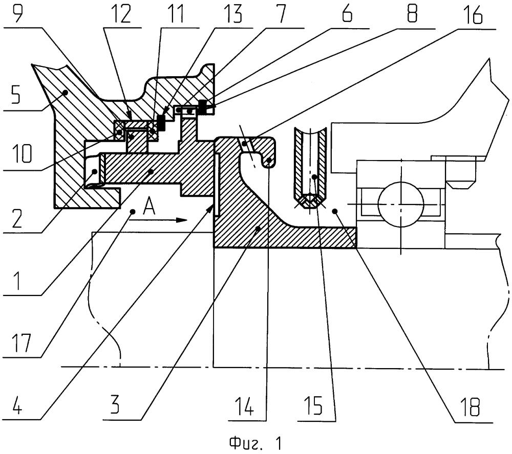 Торцовое газодинамическое уплотнение опоры ротора турбомашины