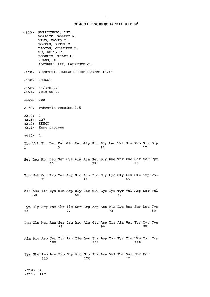 Антитела, направленные против il-17