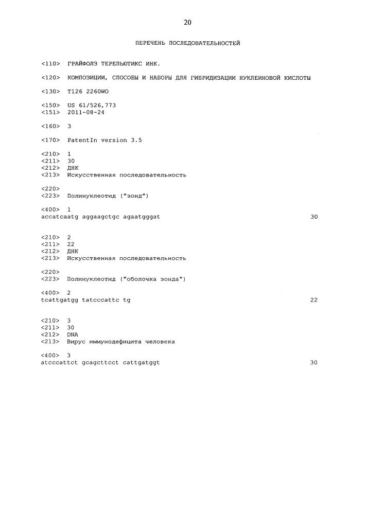 Композиции, способы и наборы для гибридизации нуклеиновой кислоты