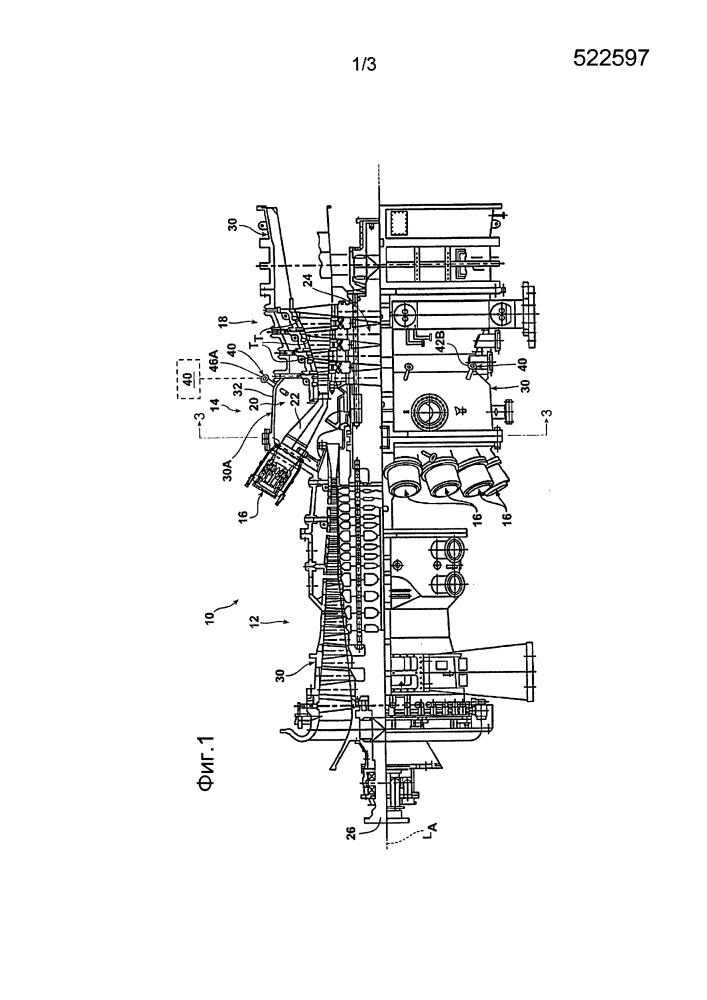 Система рециркуляции воздуха оболочки камер сгорания в газотурбинном двигателе