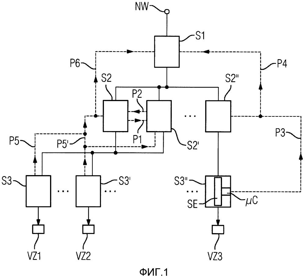 Способ переключения в компоновке силовых переключателей и компоновка из множества силовых переключателей