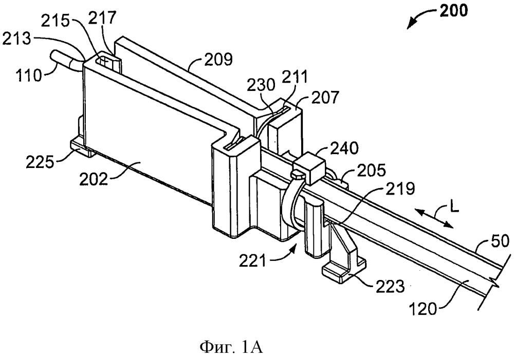 Устройства для кабельного зажима с разгрузкой натяжения кабеля и способов использования таковых