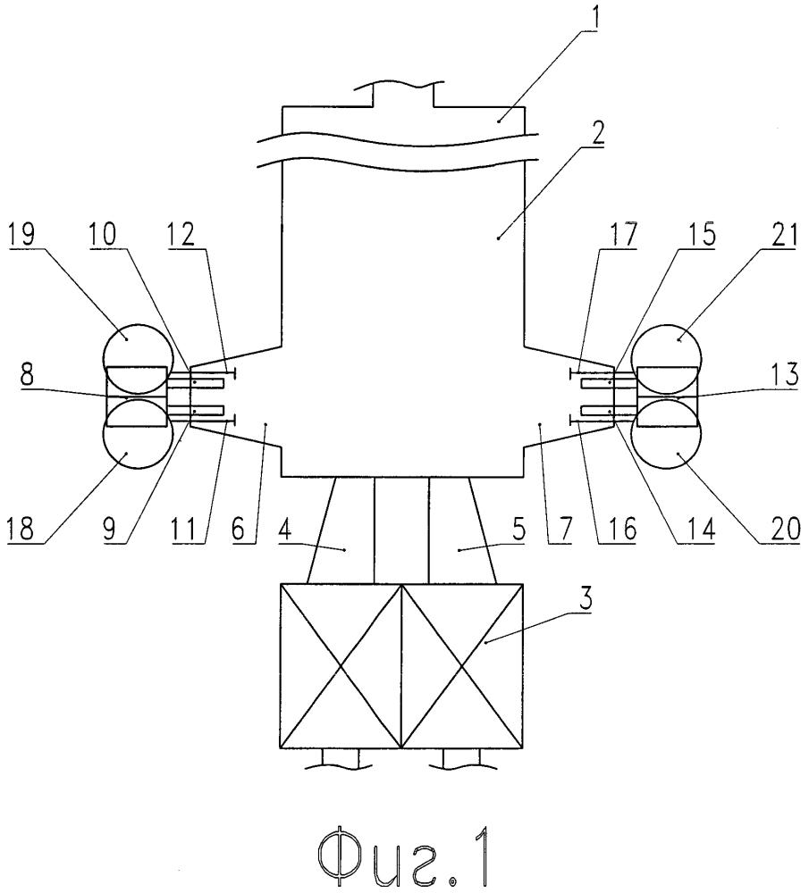 Способ загрузки шихты и стеклобоя в регенеративную стекловаренную печь с подковообразным направлением пламени