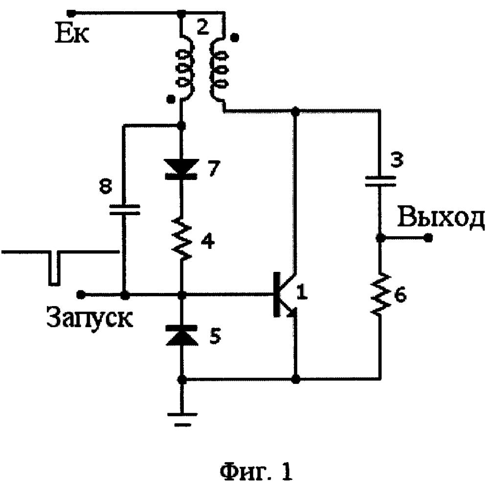 Релаксационный генератор импульсов на лавинном транзисторе с низким напряжением питания