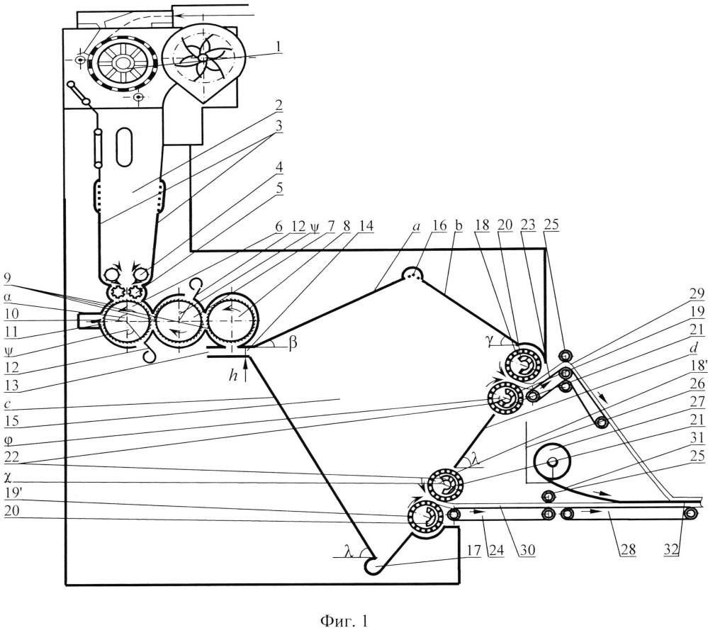 Способ получения многослойных волокнистых материалов и устройство для его осуществления
