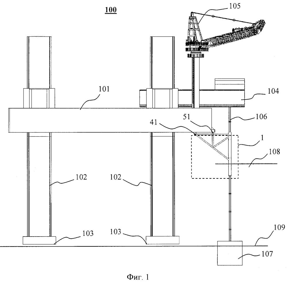Защитная конструкция водоотделяющей колонны самоподъемной платформы
