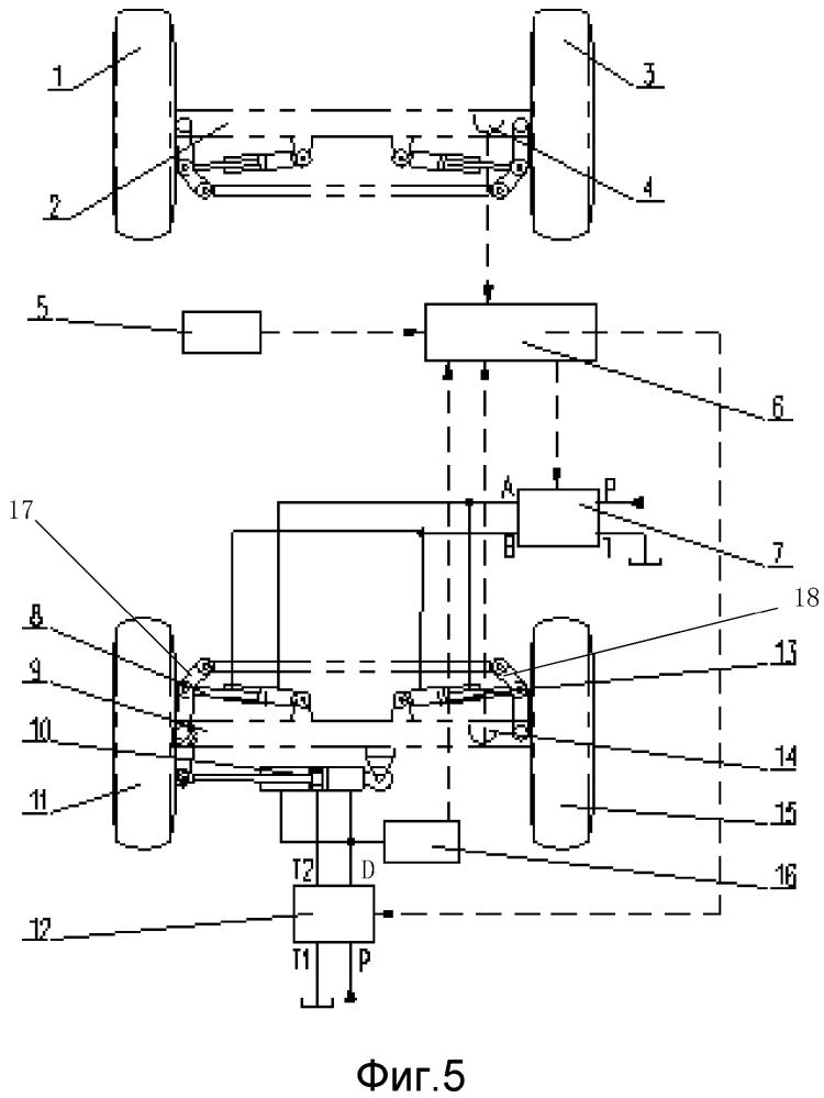 Следящая система рулевого управления многоосного автомобильного подъемного крана и многоосный автомобильный подъемный кран