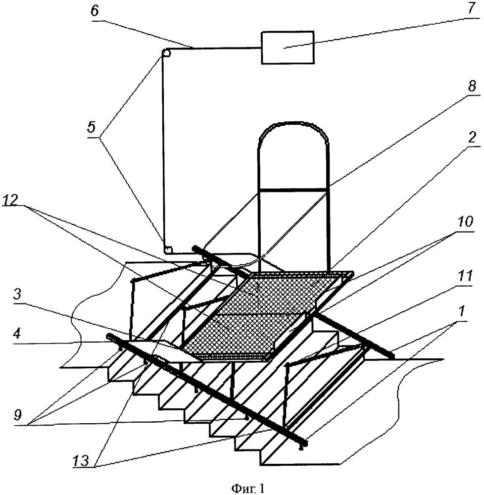 Устройство для подъема и спуска инвалидов в коляске по лестничным маршам
