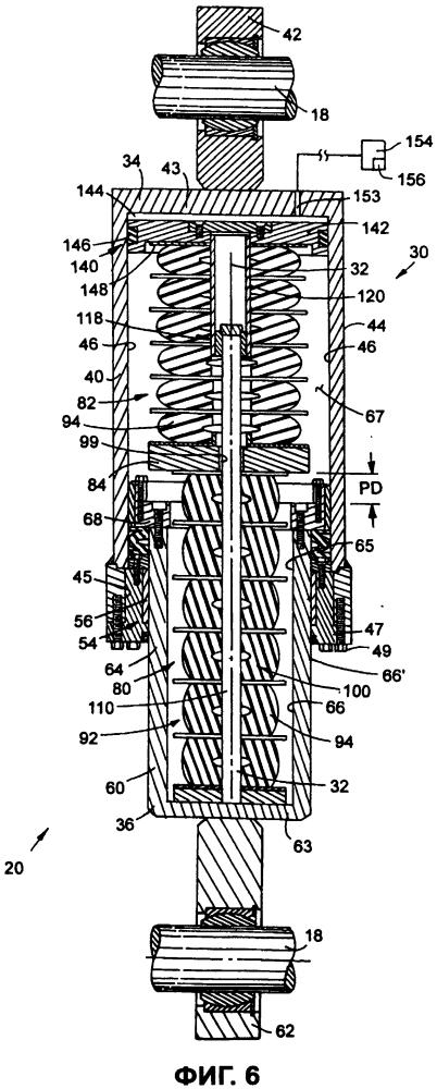 Двухступенчатое амортизирующее устройство для системы подвески внедорожного транспортного средства большой грузоподъемности