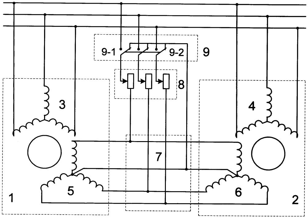 Устройство согласованного вращения асинхронных двигателей