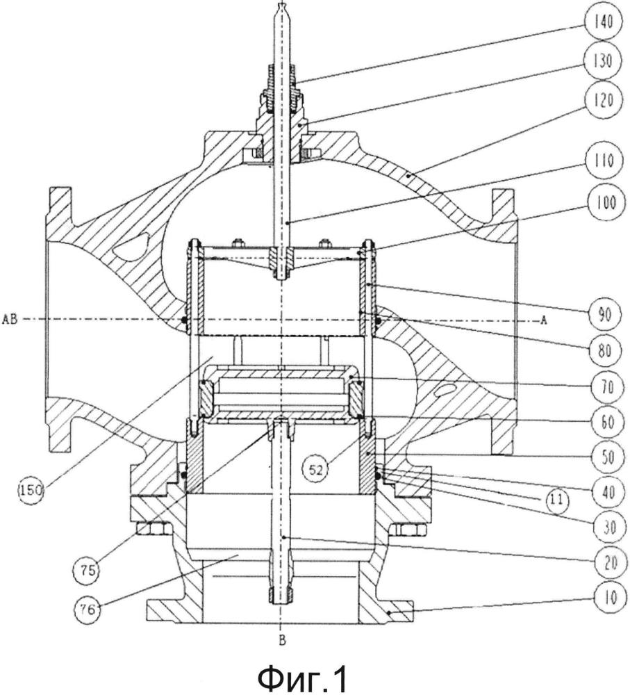 Трехходовой клапан для смешивания потоков и разделения потоков