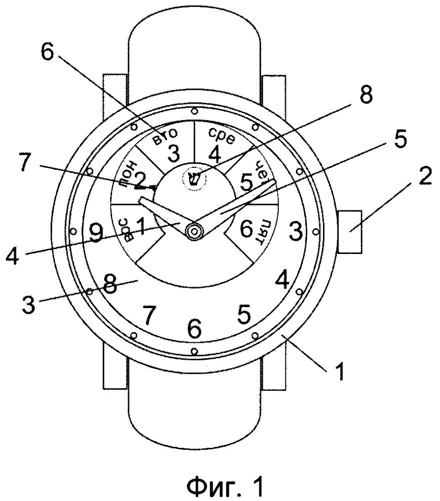 Часы с устройством индикации дня шаббата и способ осуществления индикации шаббата на часах