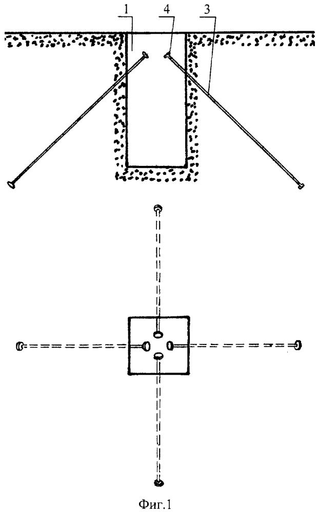 Извлекаемая опалубка для изготовления колодца под анкерное крепление
