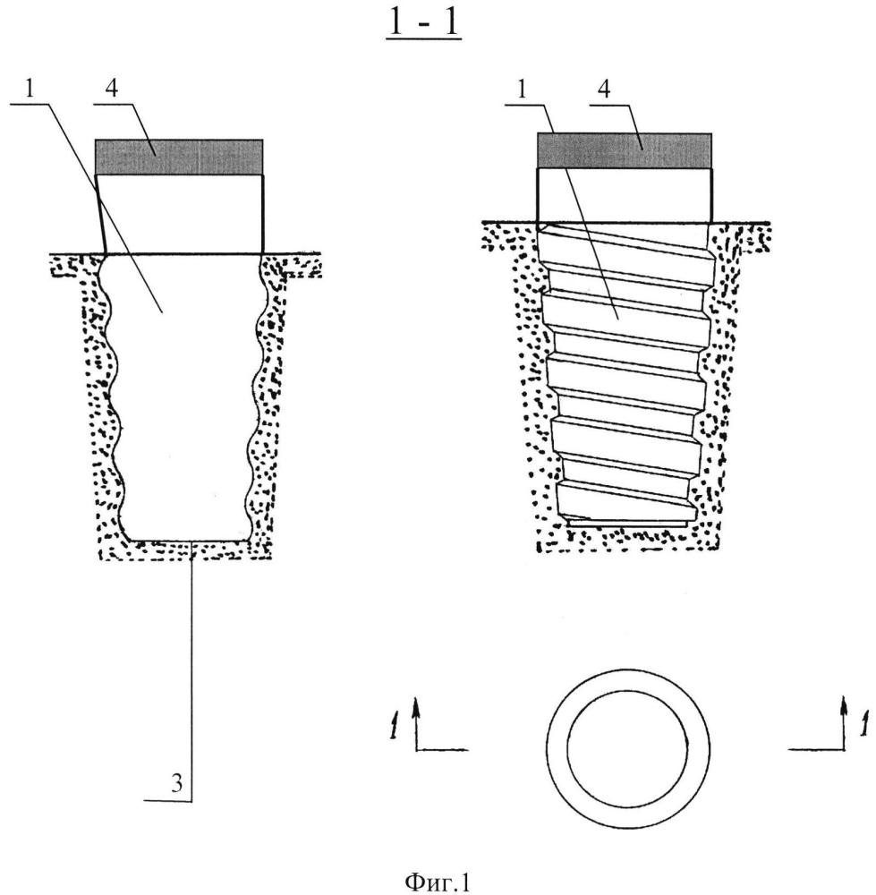 Опалубка для изготовления колодца под анкер