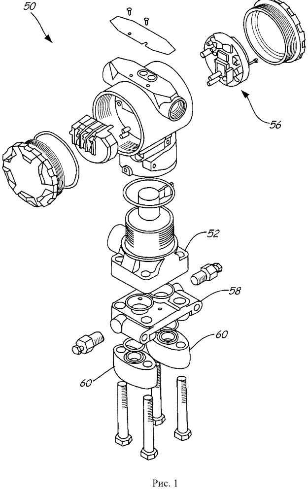 Температурная диагностика для монокристаллического датчика давления рабочей жидкости