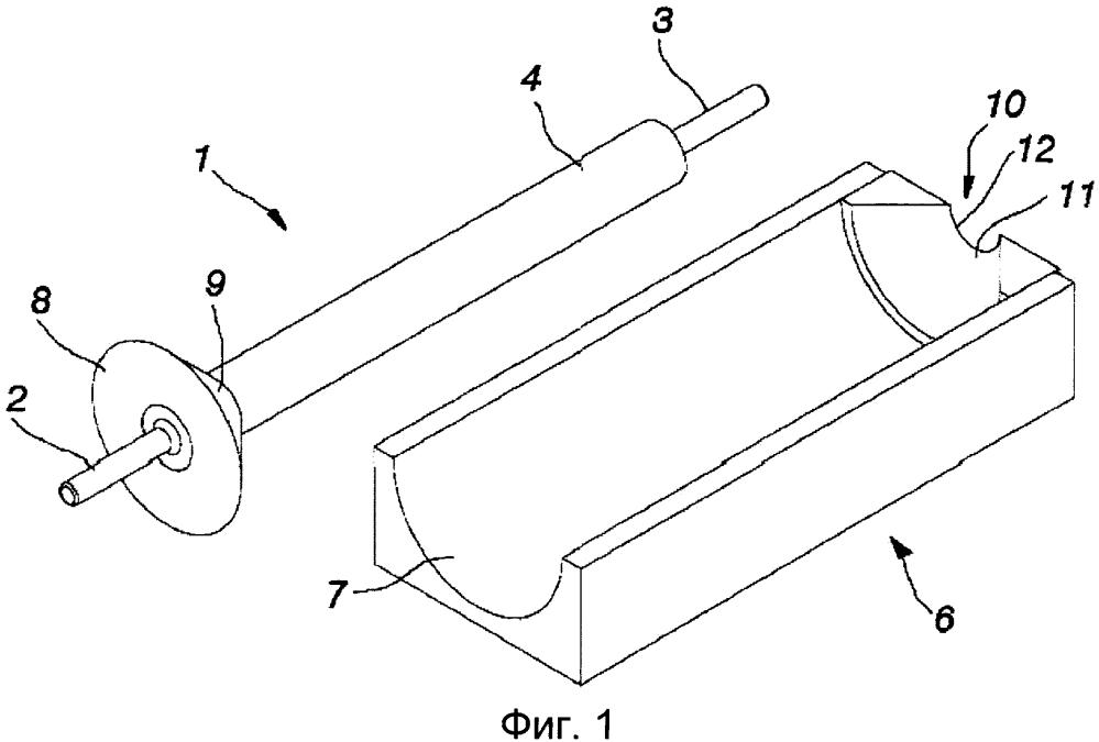 Модуль формы, способ формования секции трубной изоляции из отверждаемого теплоизолирующего материала и секция трубной изоляции