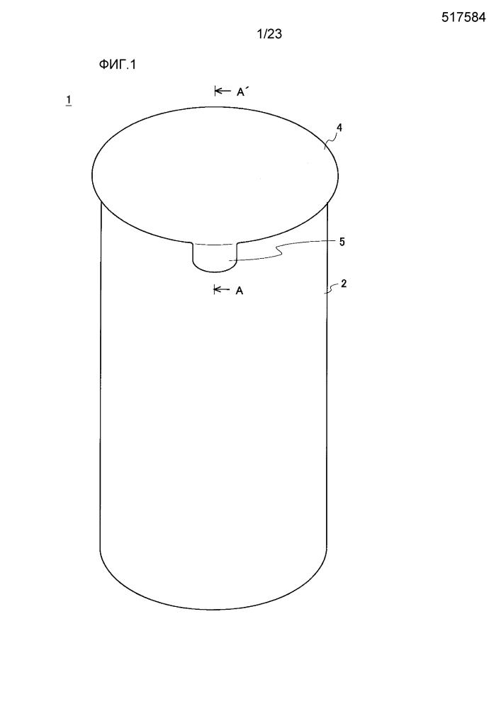 Воронкообразная составляющая часть и способ изготовления упаковочного контейнера, использующего воронкообразную составную часть