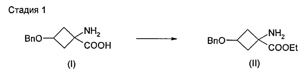 Получение производного 1-амино-3-гидроксициклобутан-1-карбоновой кислоты