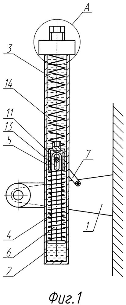 Уравновешивающий механизм оружейной установки