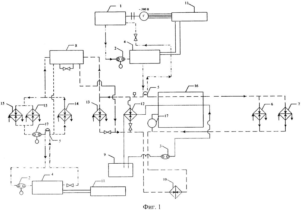 Бортовая установка для прогрева систем тепловозного двигателя при горячем отстое