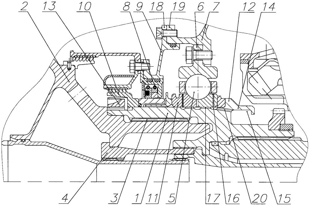 Опора компрессора низкого давления турбомашины
