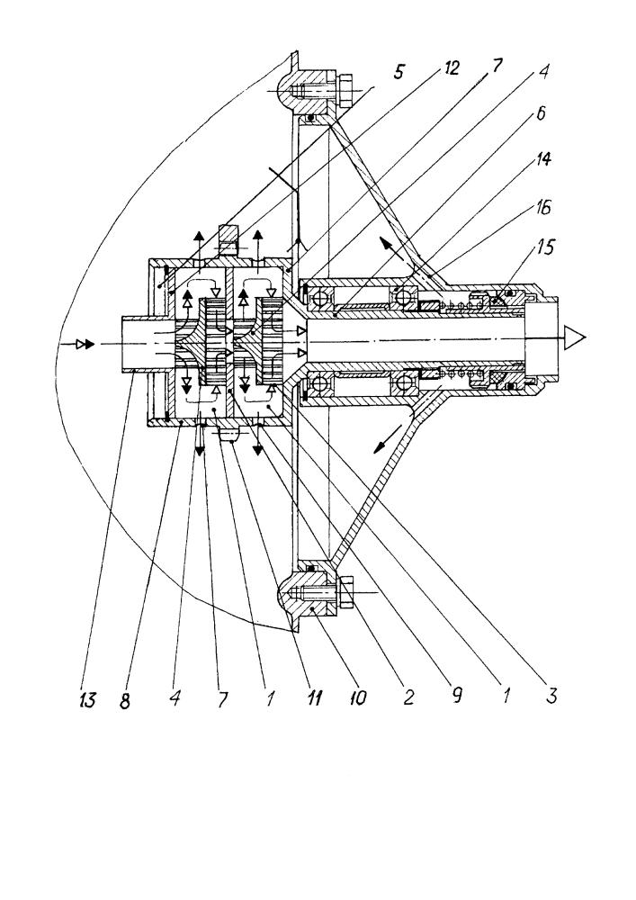 Радиальный приводной центробежный суфлер