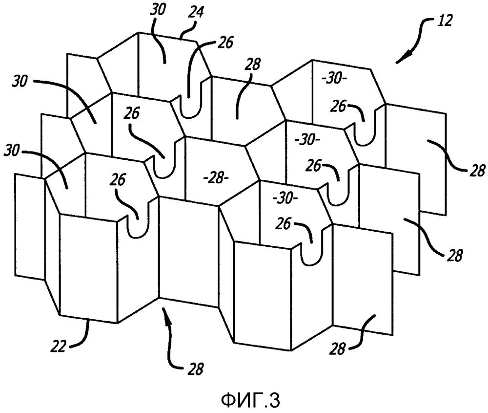 Акустическая структура с увеличенным диапазоном подавления