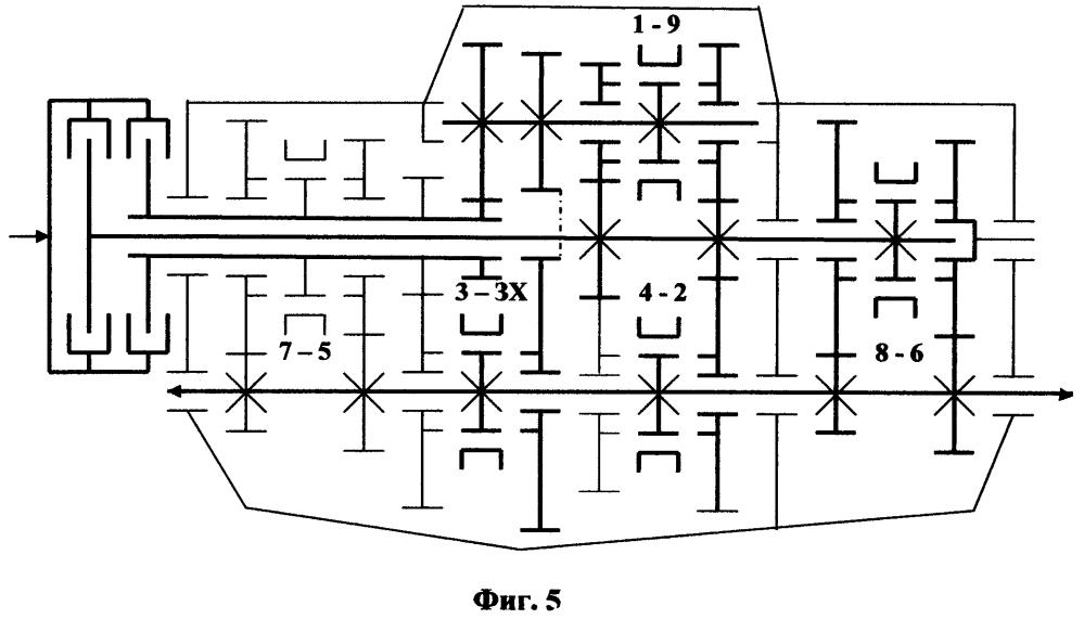 Способ получения модификаций несоосной коробки передач с двумя сцеплениями