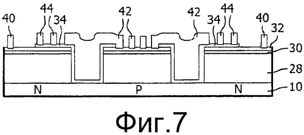 Металлический наполнитель, разделяющий слои р- и n-типа, для светоизлучающих диодов, монтируемых методом перевернутого кристалла