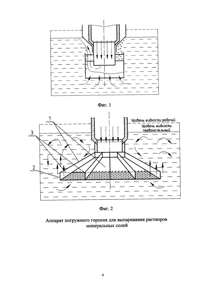 Аппарат погружного горения для выпаривания растворов минеральных солей