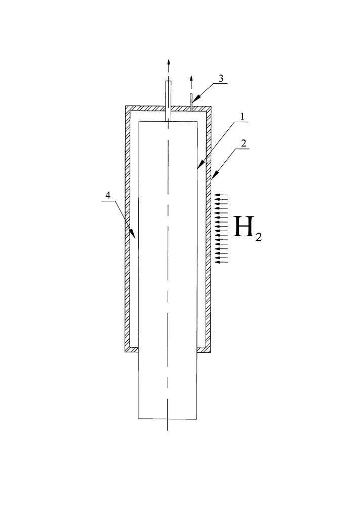 Тепловая труба и способ ее защиты от диффузионного водорода