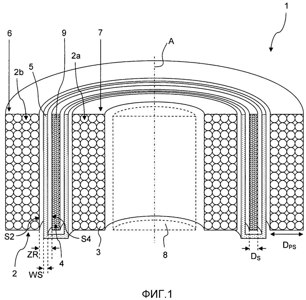 Индуктивный ограничитель тока утечки с разделенной системой первичной катушки