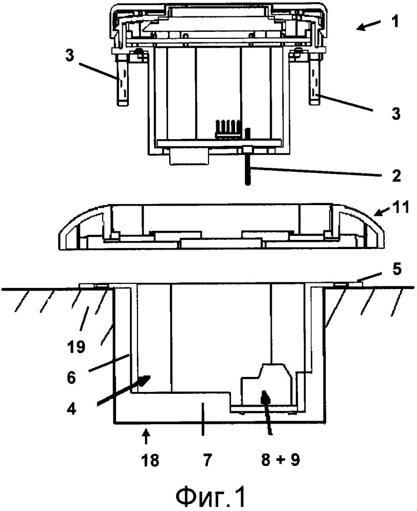 Электрическое/электронное установочное устройство скрытого монтажа системотехники домов и зданий или технических средств связи для дома