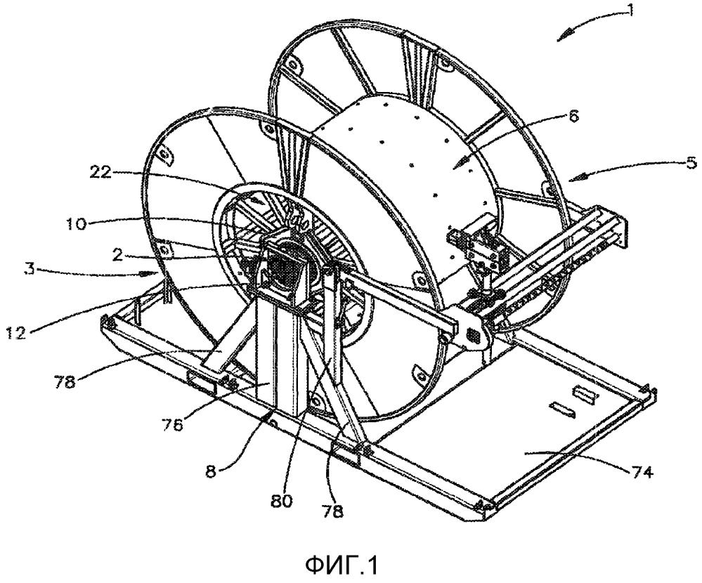 Компоновка барабана гибкой насосно-компрессорной трубы для систем с гибкой насосно-компрессорной трубой