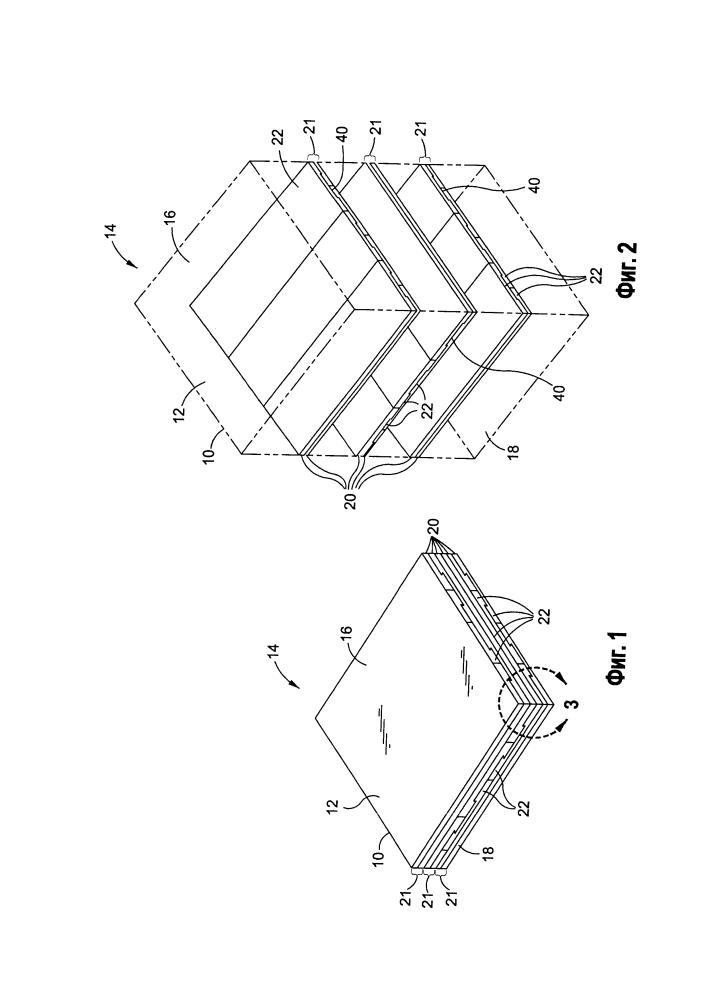 Композитный материал, содержащий волокна, формы которых обеспечивают их сцепление, и способ его изготовления