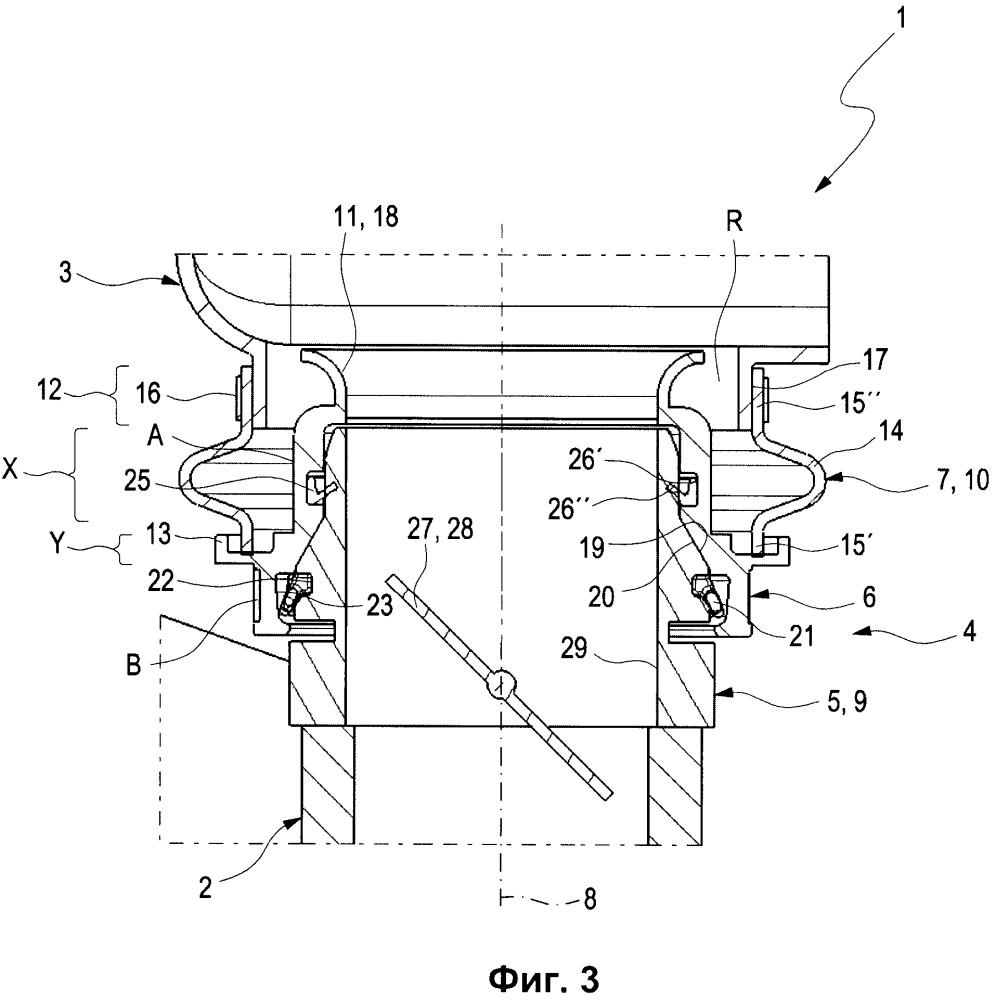 Устройство для механического и по текучей среде соединения двух конструкционных элементов