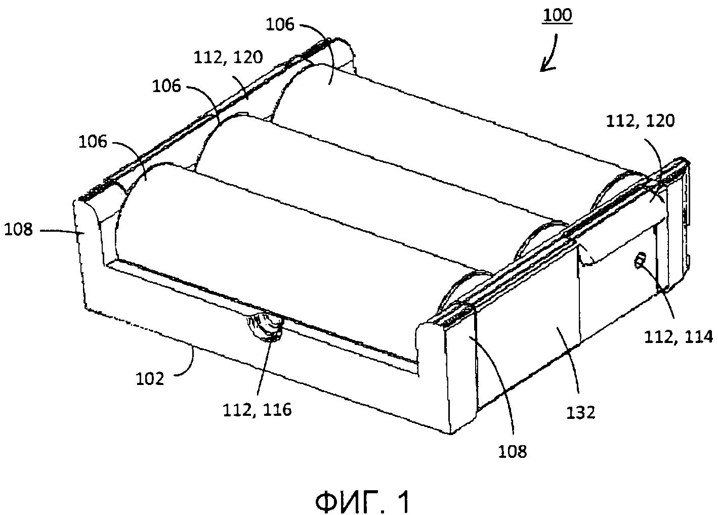 Адаптер батарей с гибкой платой и силиконовой пружиной
