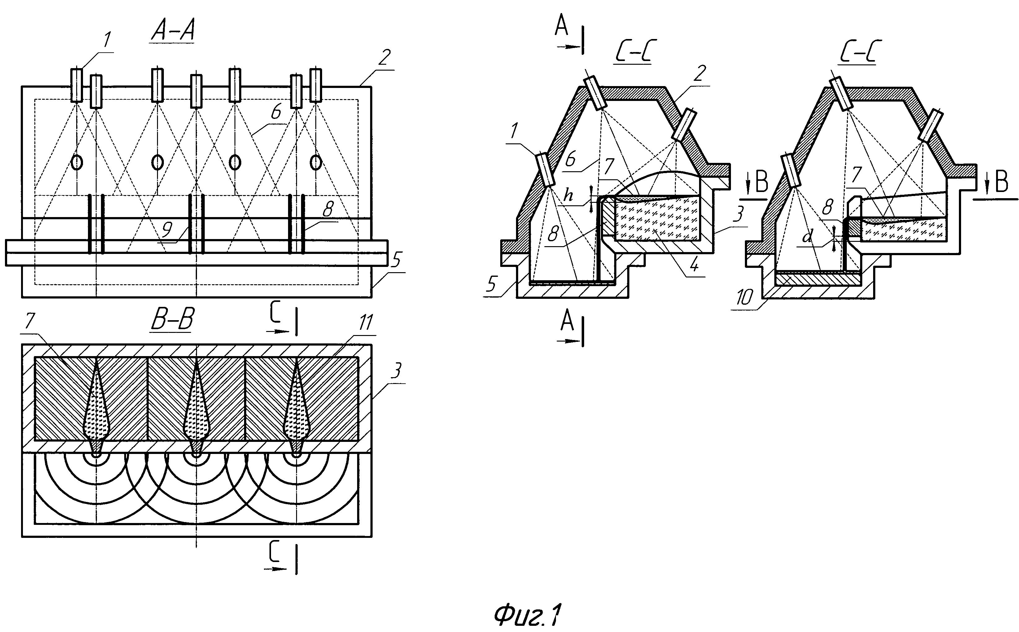Способ и устройство для производства слоистых слитков