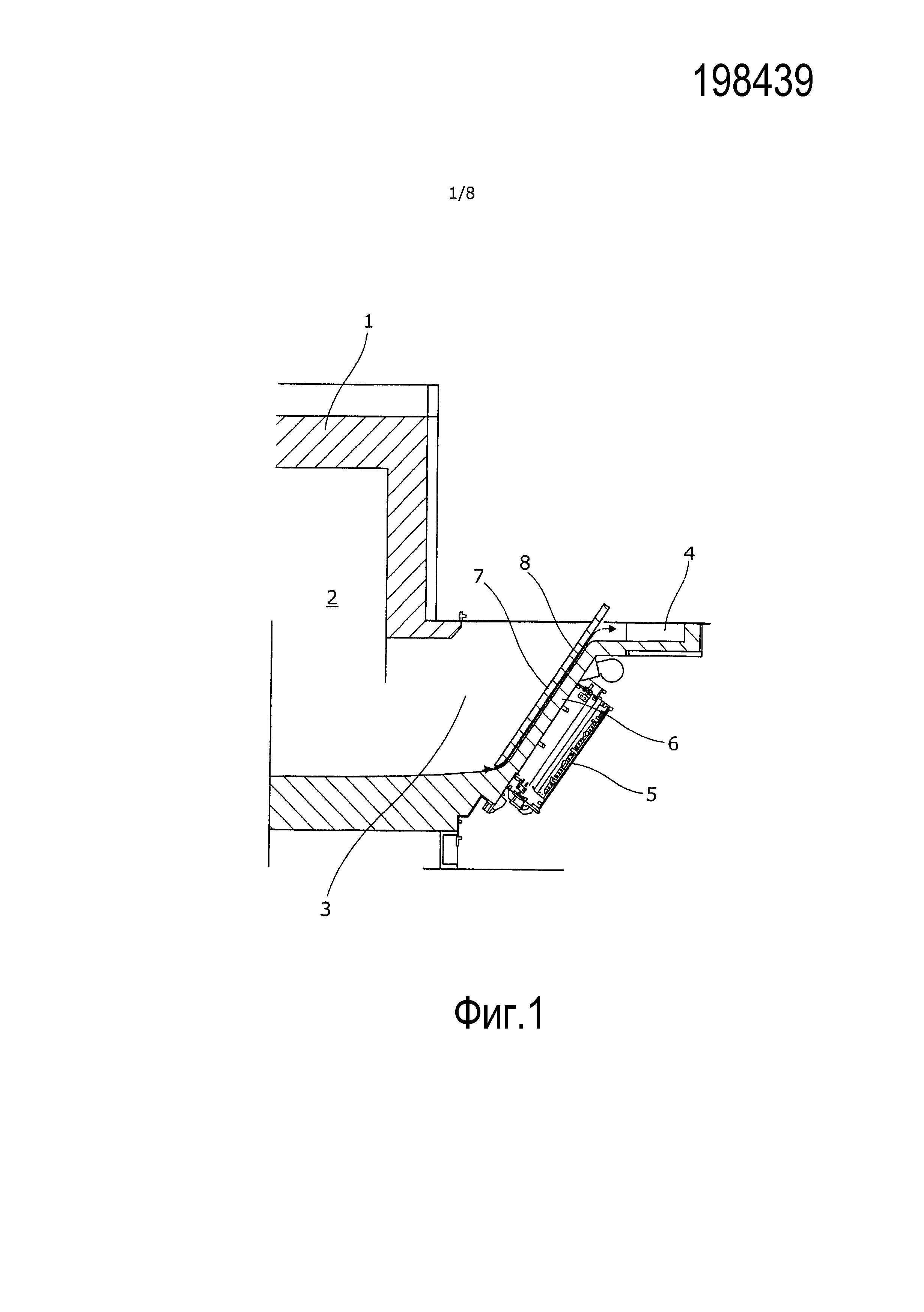 Установка для индуцирования течения в расплавленном материале