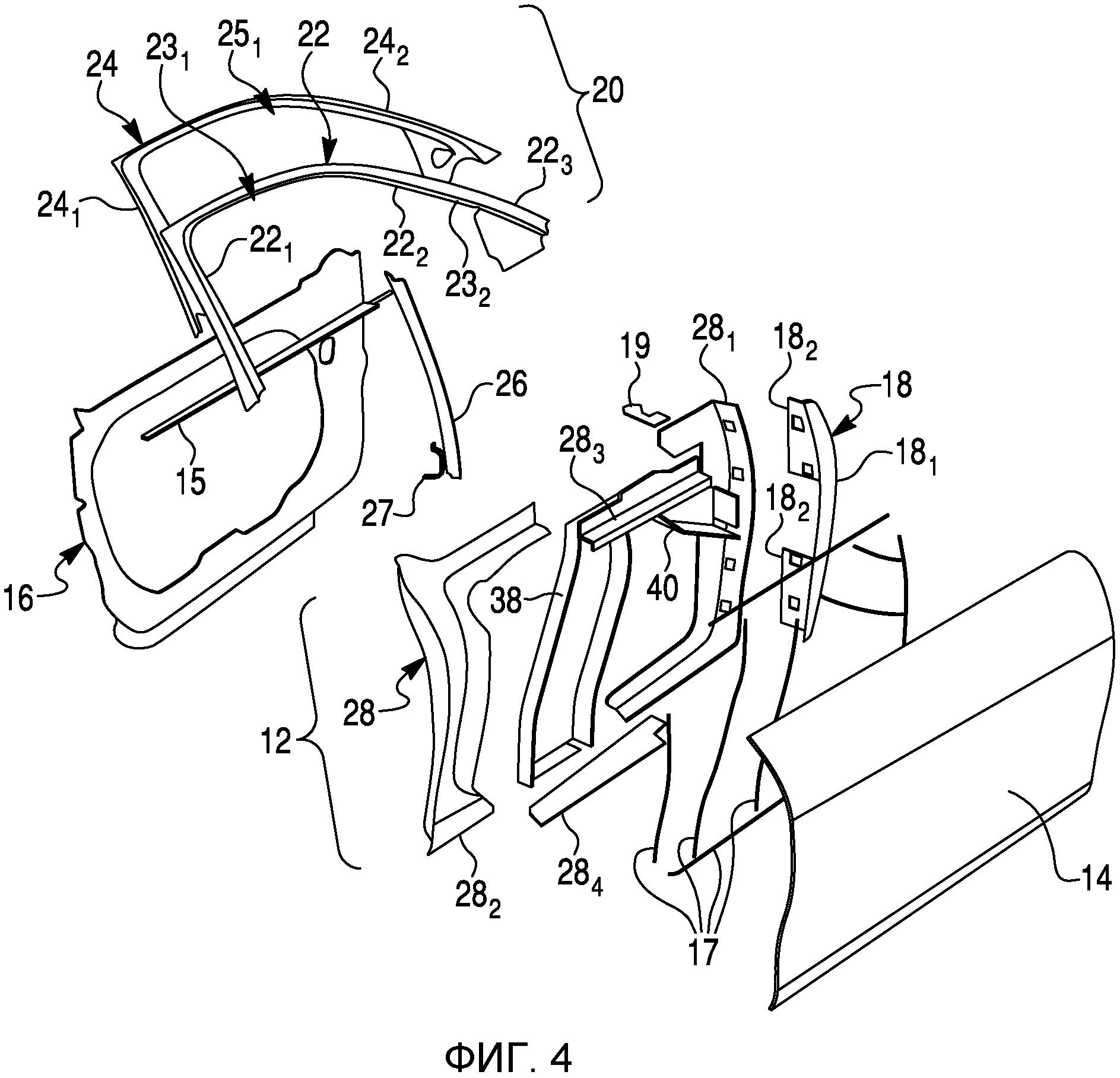 Легковесная стальная дверь для транспортного средства и способ для ее изготовления