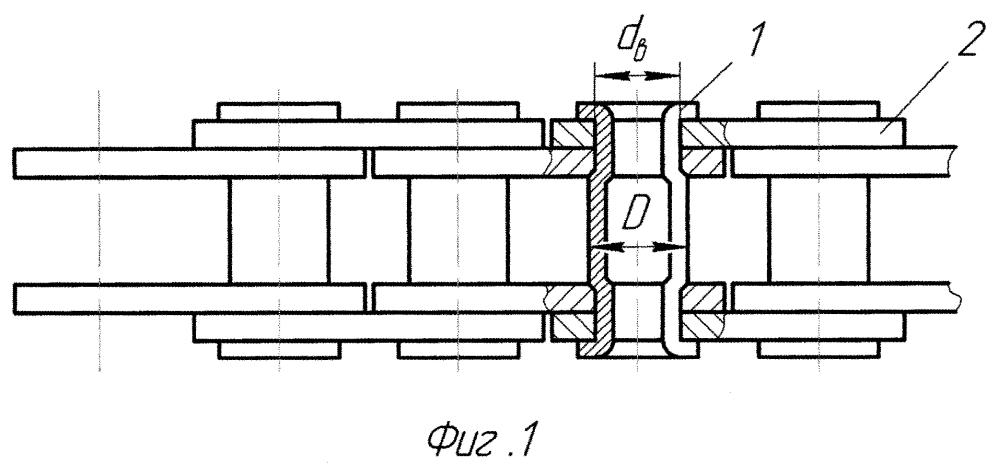 Приводная пластинчатая цепь с внутренним зацеплением