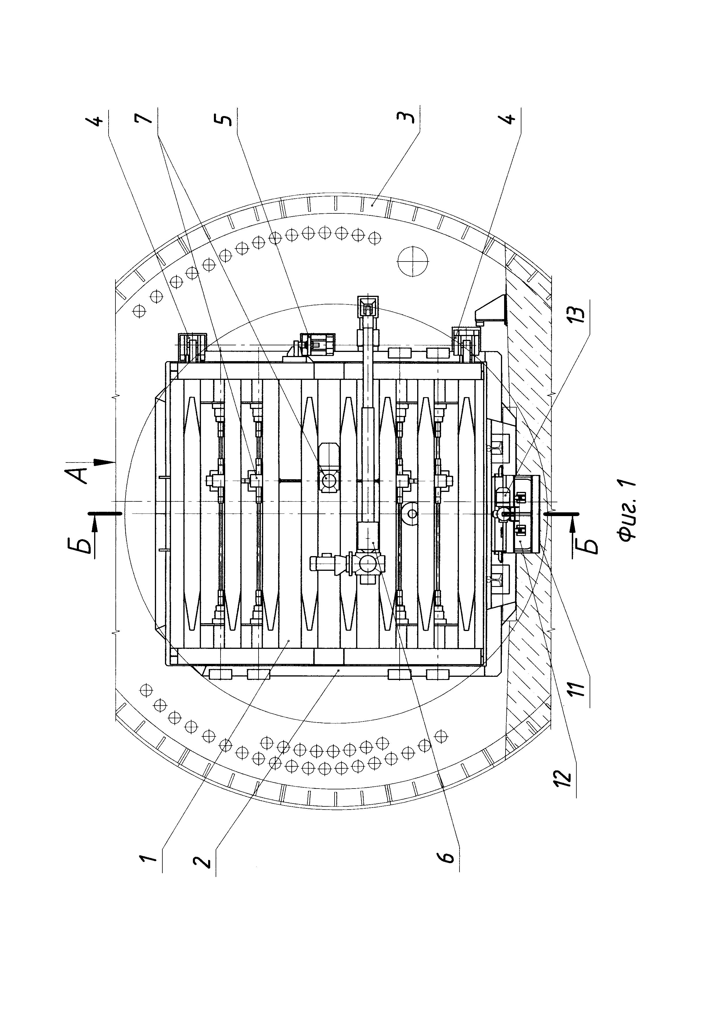 Затвор поворотный защитно-герметический для перегонного тоннеля метрополитена