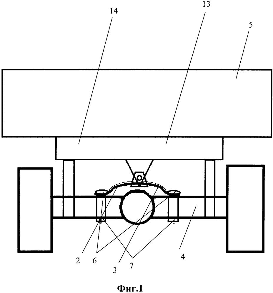 Регулятор колебаний движителей моста колёсного транспортного средства