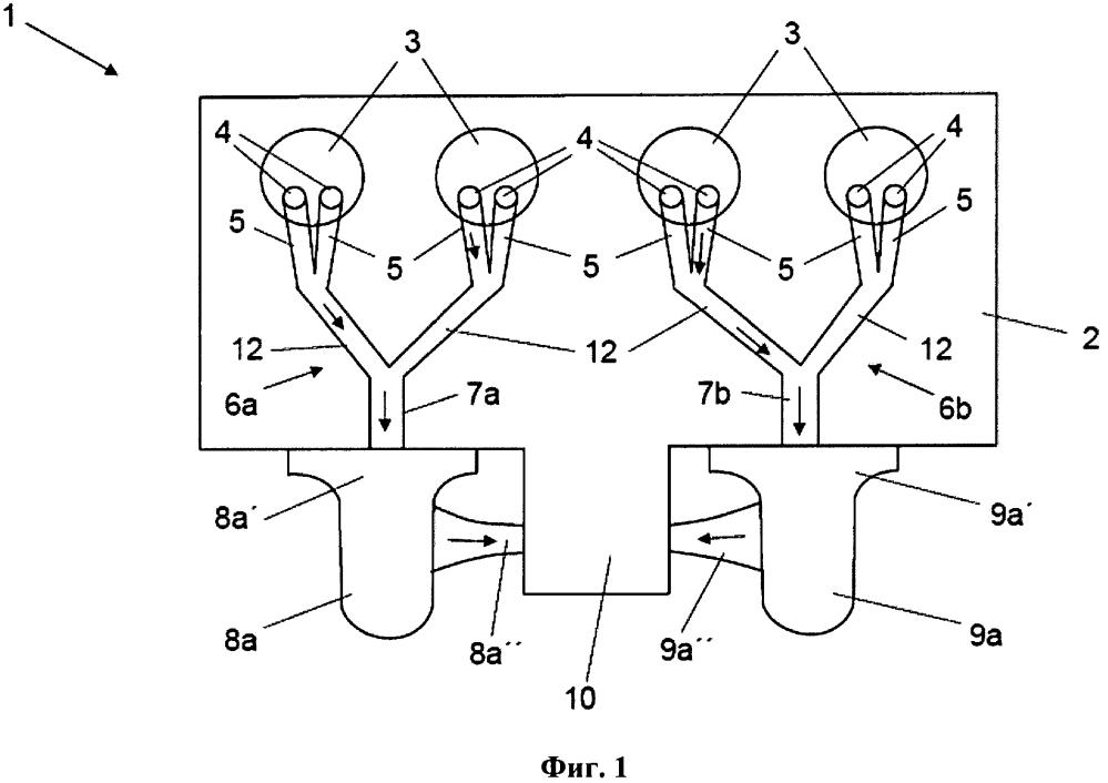 Двигатель внутреннего сгорания с двумя турбокомпрессорами и способ его эксплуатации