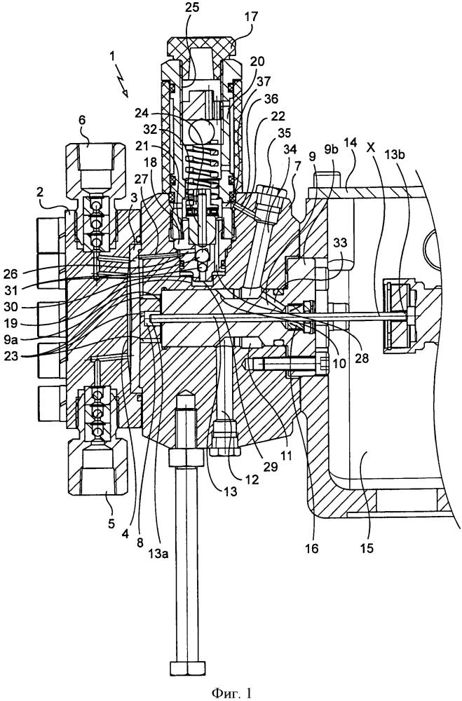 Диафрагменный насос с гидравлическим регулированием, содержащий специально выделенную линию для удаления газа