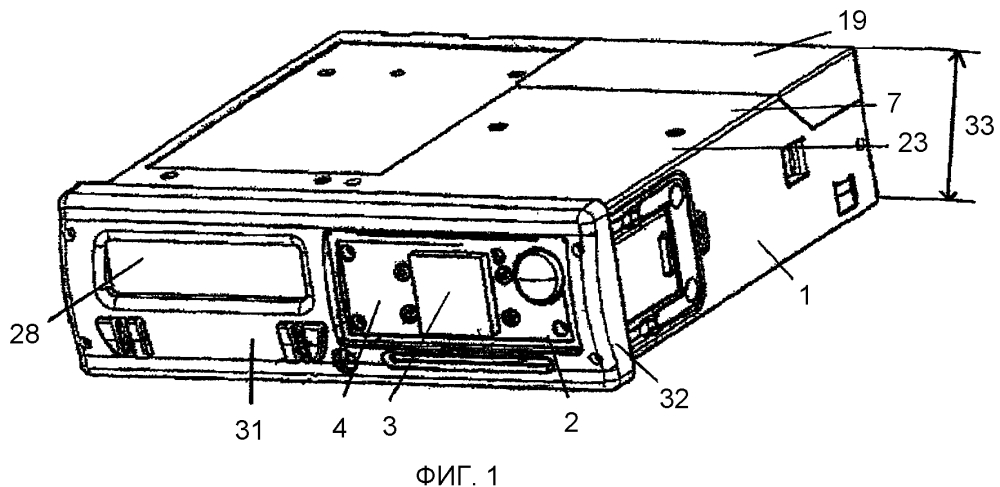 Бортовая информационная система с антенной для приема спутниковых данных географического положения