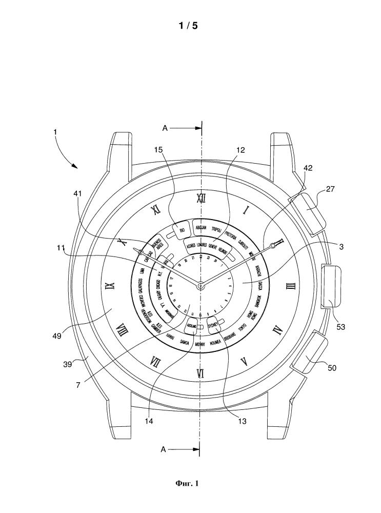 Хронометр с функцией мирового времени