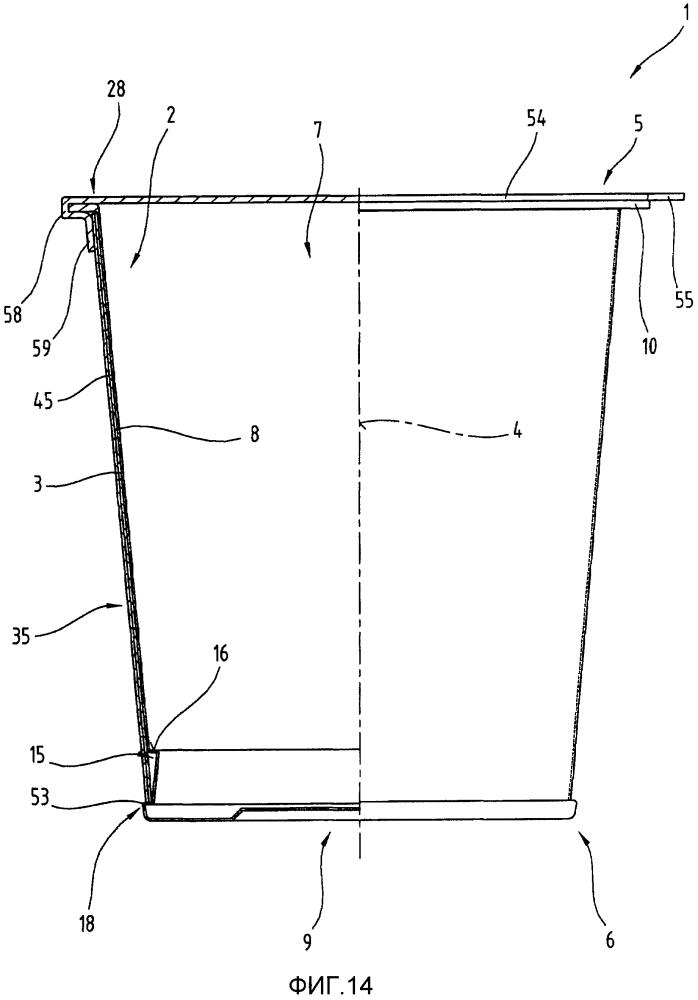 Кольцеобразная наружная деталь для комбинированной упаковочной емкости